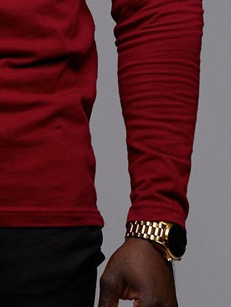 Ericdress African Fashion Floral Dashiki Printed Mens Straight T-shirt