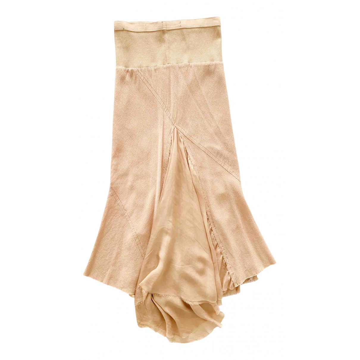 Rick Owens \N Beige Silk skirt for Women 34 FR