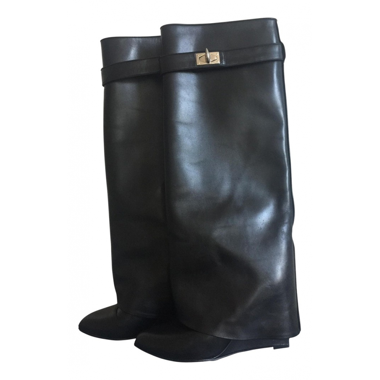 Givenchy Shark Stiefel in  Schwarz Leder