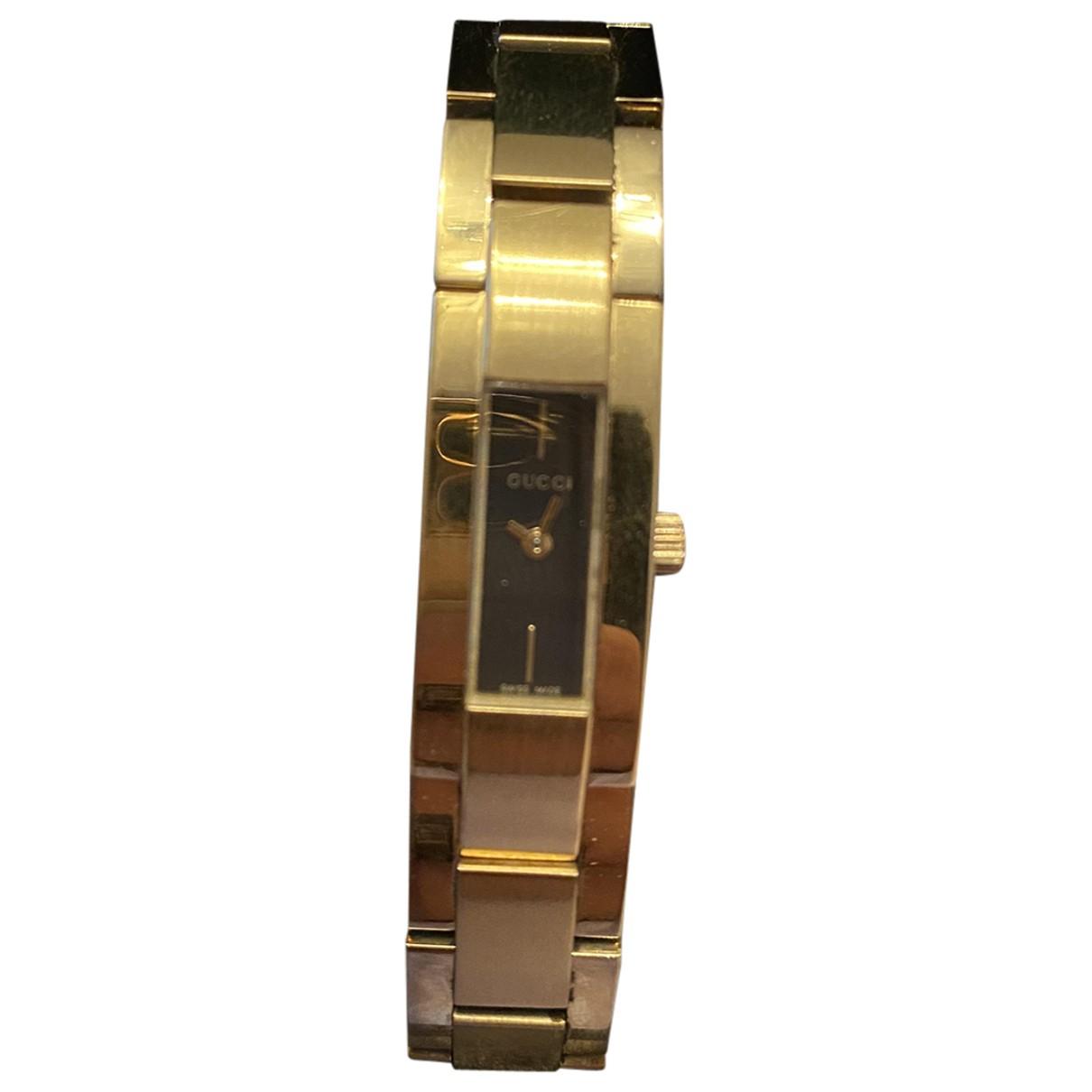 Gucci \N Uhr in  Gold Stahl