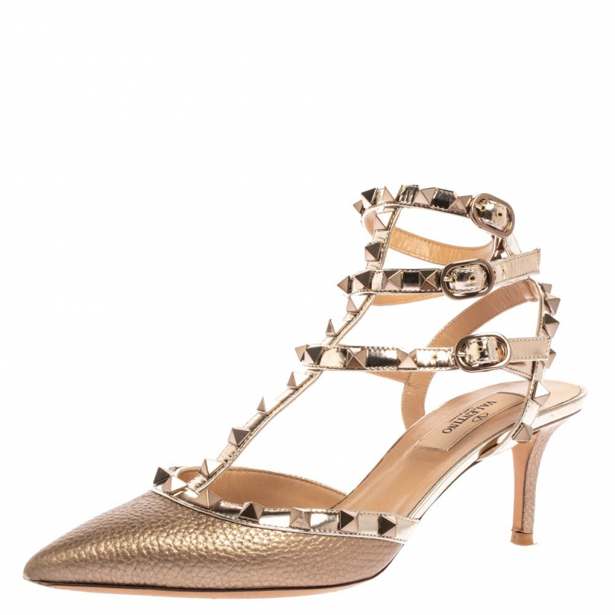Autre Marque - Sandales   pour femme en cuir - metallise