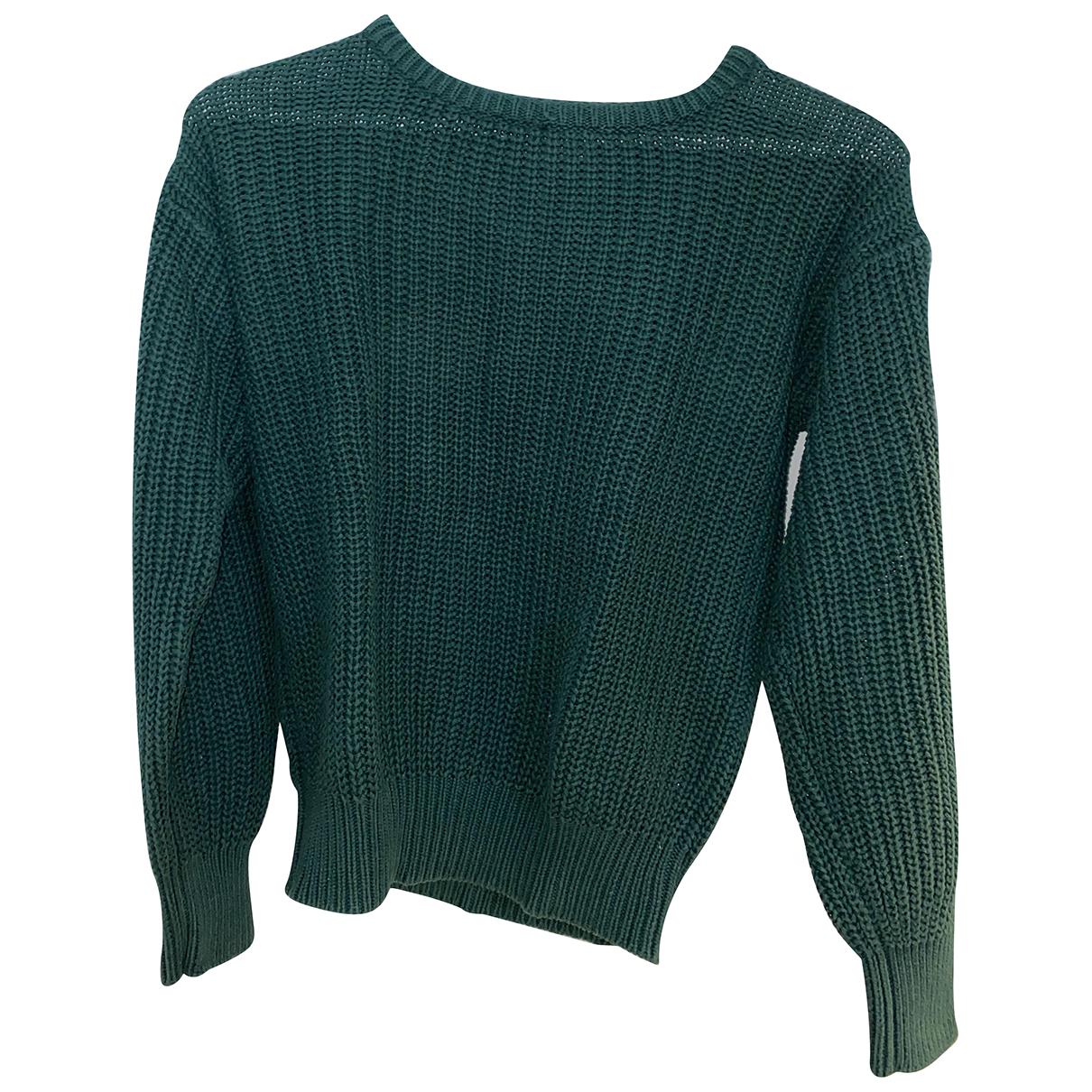 American Apparel - Pull   pour femme en coton - vert