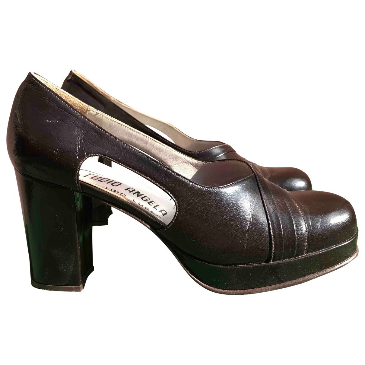 Non Signé / Unsigned \N Brown Leather Heels for Women 39 EU