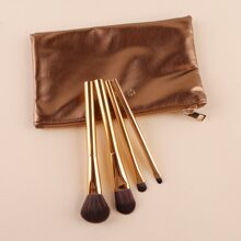 4pcs Makeup Brush With 1pc Storage Bag
