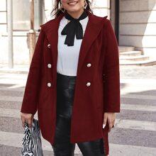 Mantel mit seitlichen Taschen und Selbstguertel