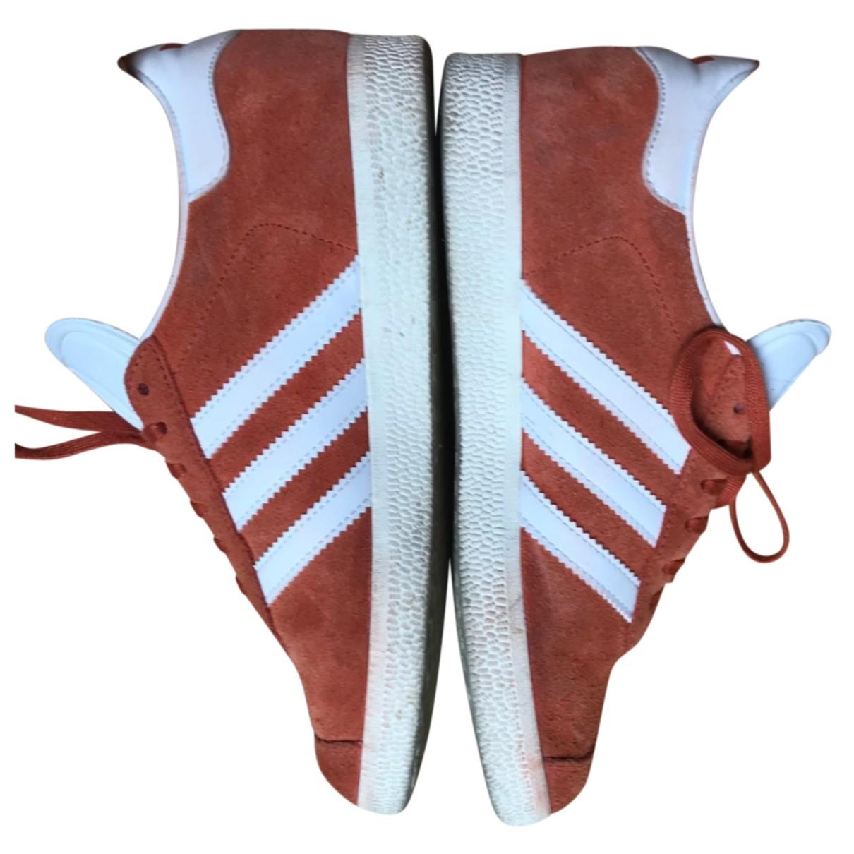 Adidas Gazelle Orange Suede Trainers for Women 36.5 EU