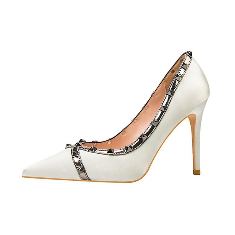 Ericdress Western Pointed Toe Slip-On Stiletto Heel Pumps