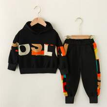 Toddler Boys Letter Graphic Hoodie & Sweatpants