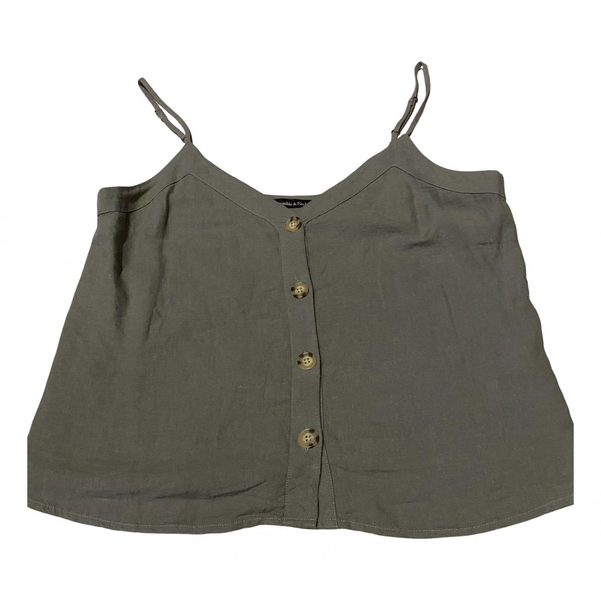 Abercrombie & Fitch \N Khaki Linen  top for Women M International