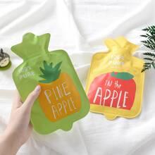 1 Stueck zufaellige Waermflasche mit Obst Muster