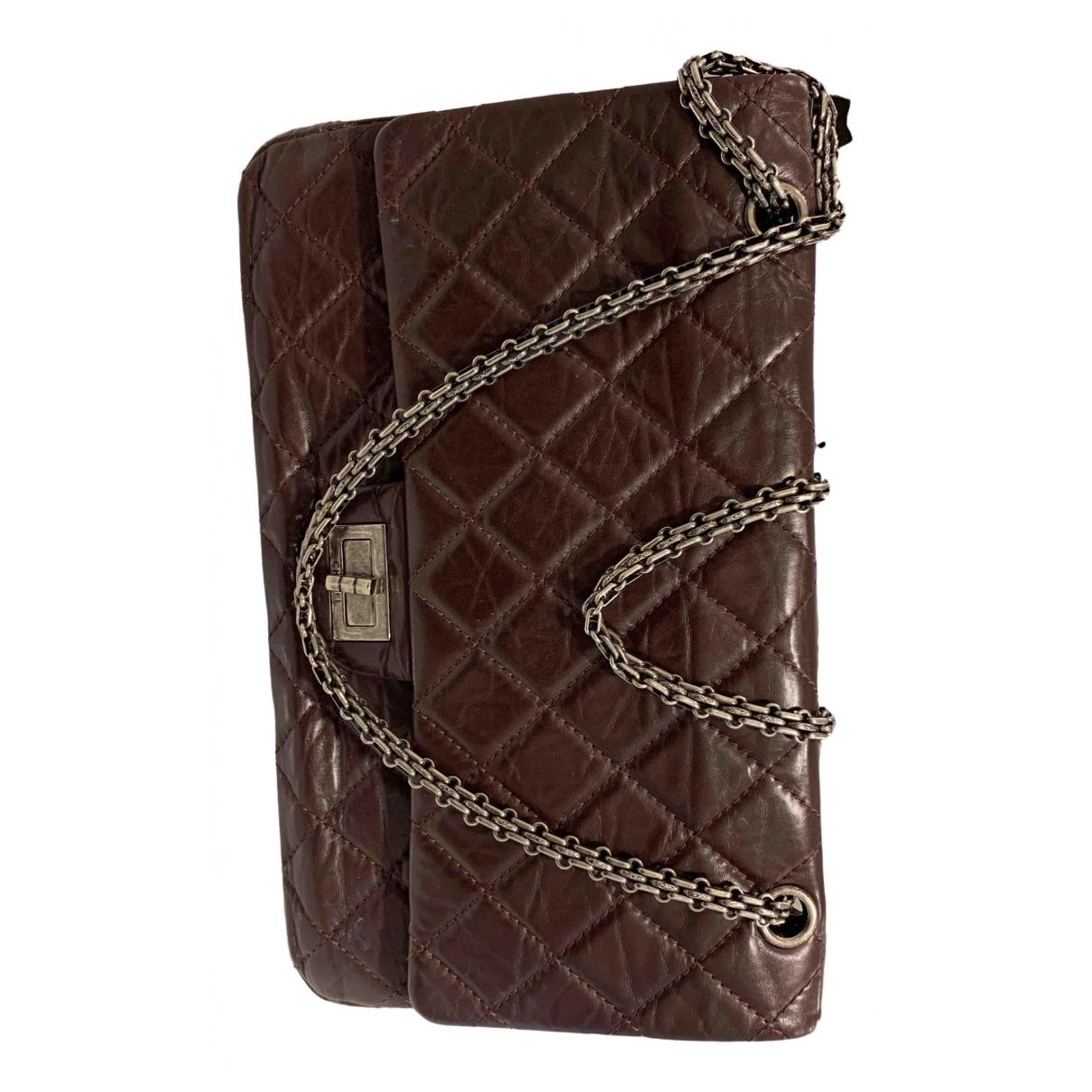 Chanel 2.55 Burgundy Leather handbag for Women \N