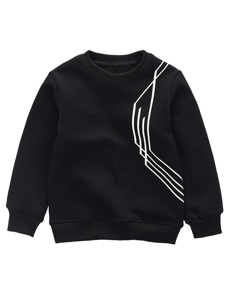 Ericdress Plain Fleece Pullover Boys' T-shirt