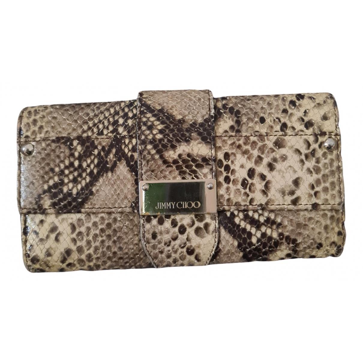 Jimmy Choo \N Beige Python wallet for Women \N