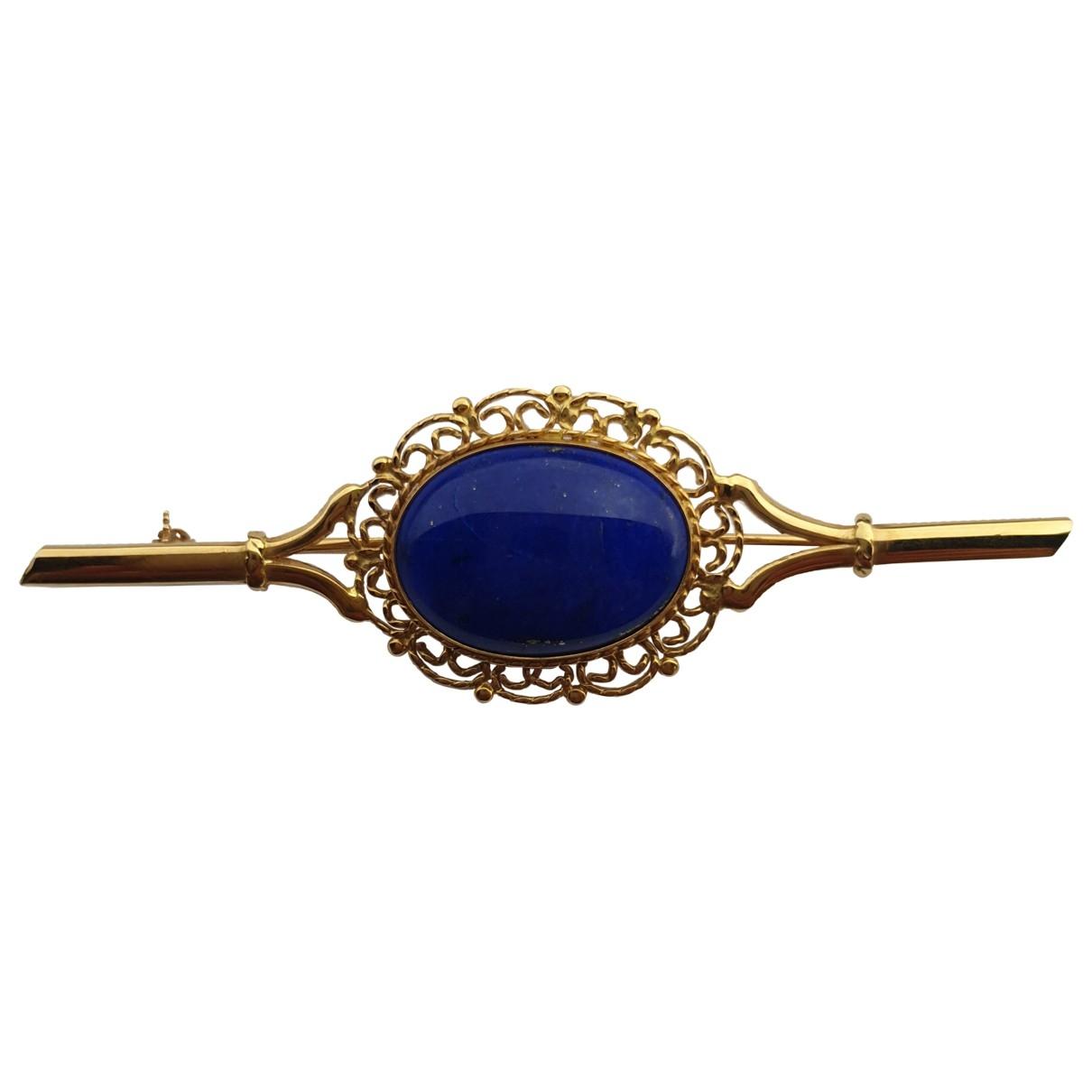 Broche Lapis lazuli de Oro amarillo Non Signe / Unsigned