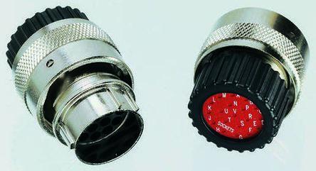 ITT Cannon Connector, 19 contacts Cable Mount Plug, Crimp