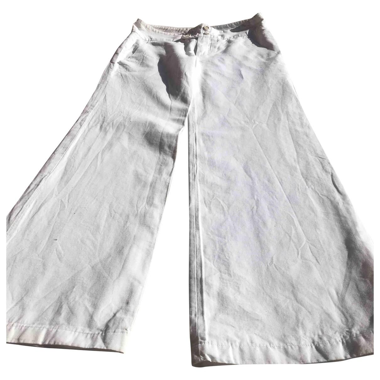 Chloe - Pantalon   pour femme en coton - blanc