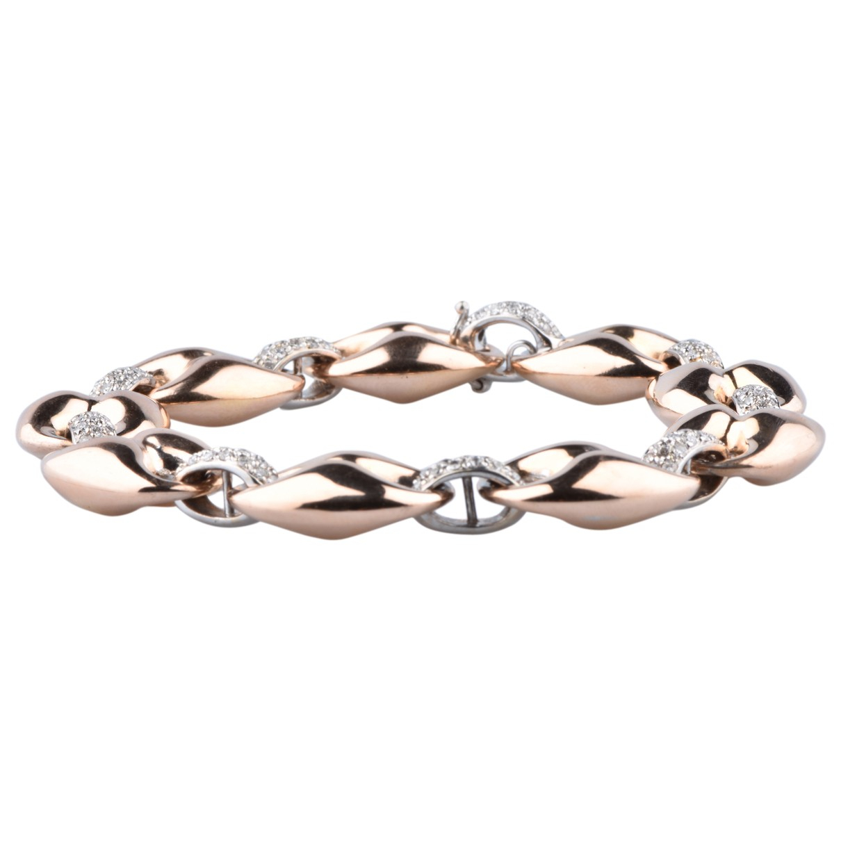 Non Signe / Unsigned Chaines Armband in  Rosa Rosegold