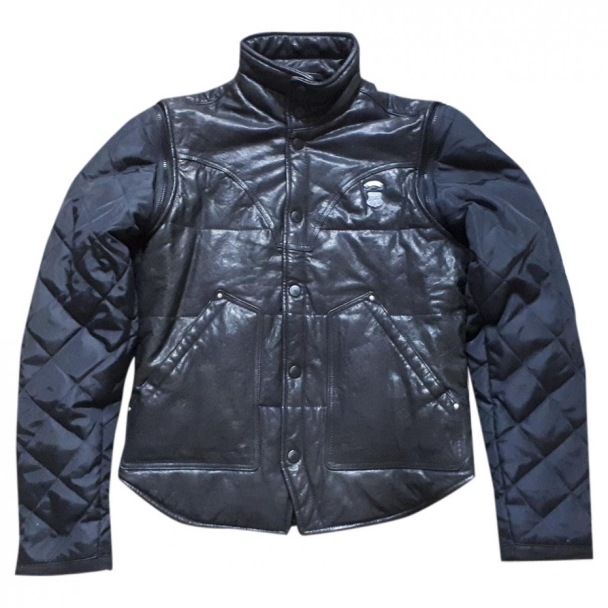 Diesel - Vestes.Blousons   pour homme en cuir - noir