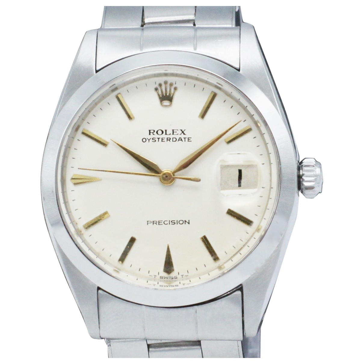 Rolex Oysterdate 34mm Uhr in  Weiss Stahl