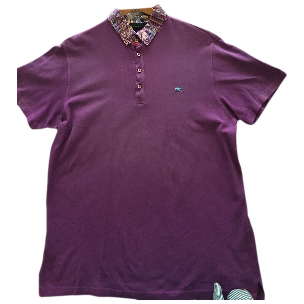 Etro \N Purple Cotton Polo shirts for Men XXL International
