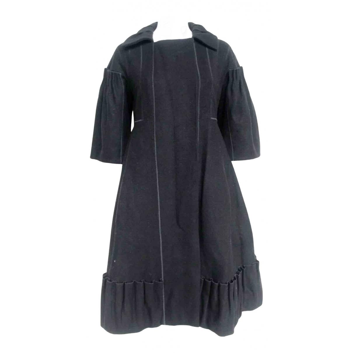 Louis Vuitton N Black Wool coat for Women 38 FR