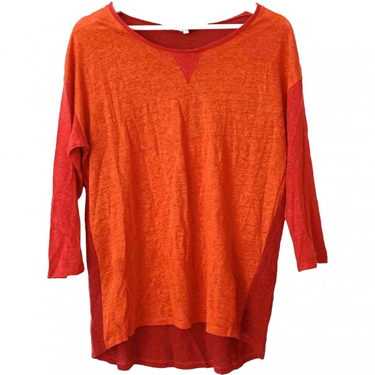 Sandro \N Orange Linen  top for Women 3 0-5