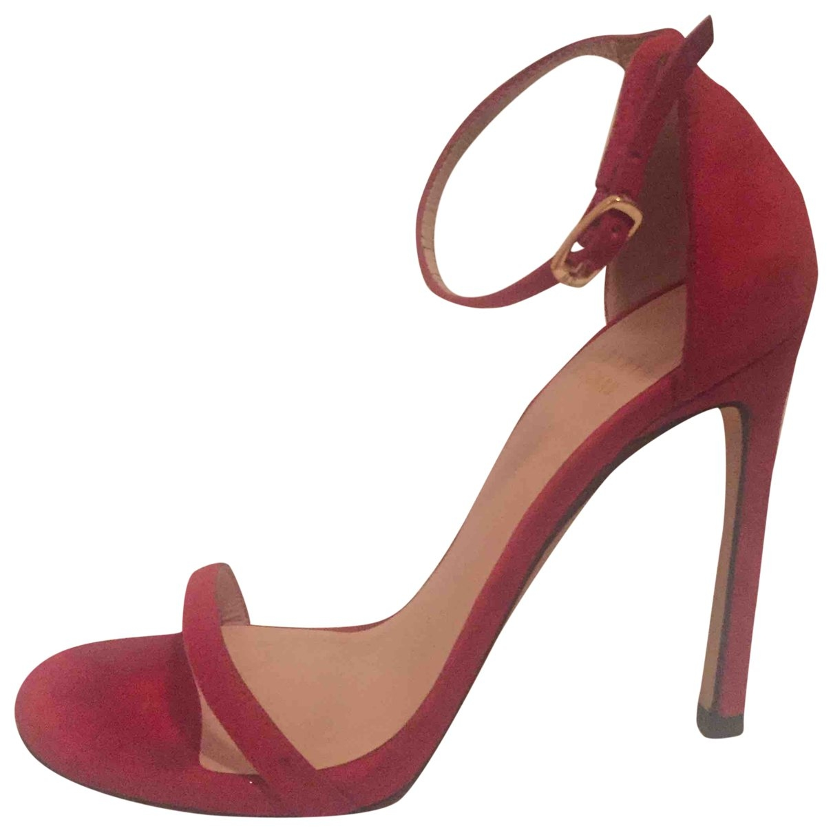 Stuart Weitzman \N Red Suede Sandals for Women 36 EU