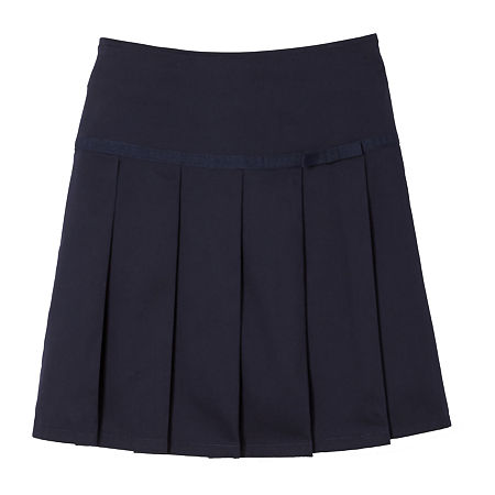 French Toast Little & Big Girls Pleated Scooter Skirt, 10 , Blue