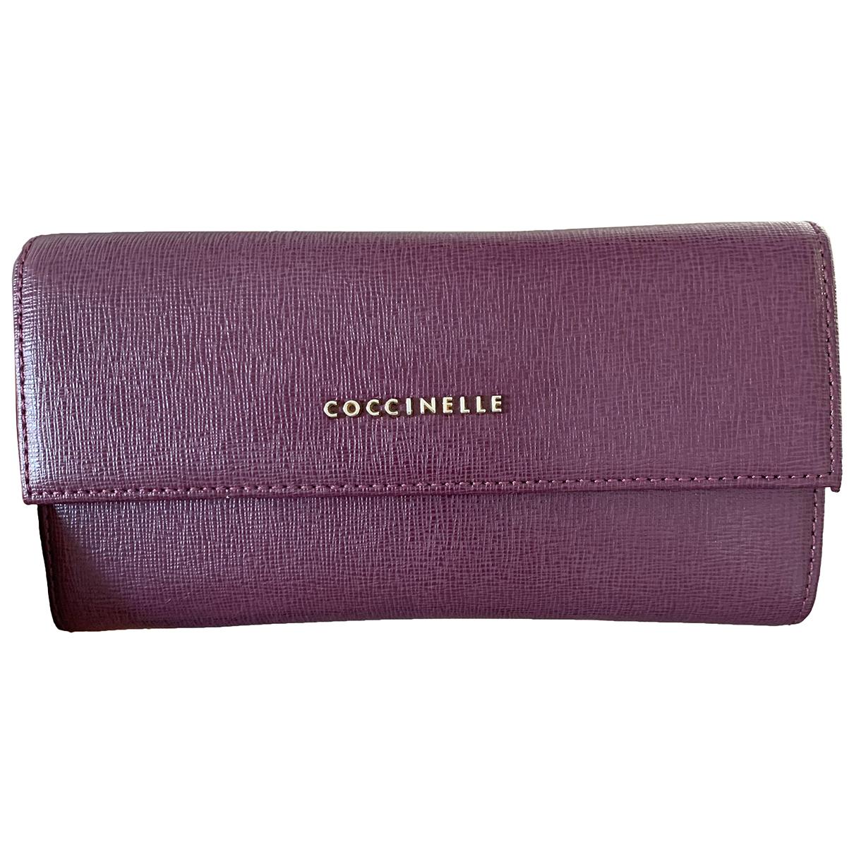 Coccinelle - Portefeuille   pour femme en cuir - violet