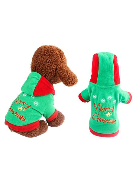 Milanoo Traje para mascotas Árbol de Navidad Ropa roja Poliester Suministro para mascotas