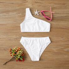 Maedchen Bikini Set mit einer Schulter frei