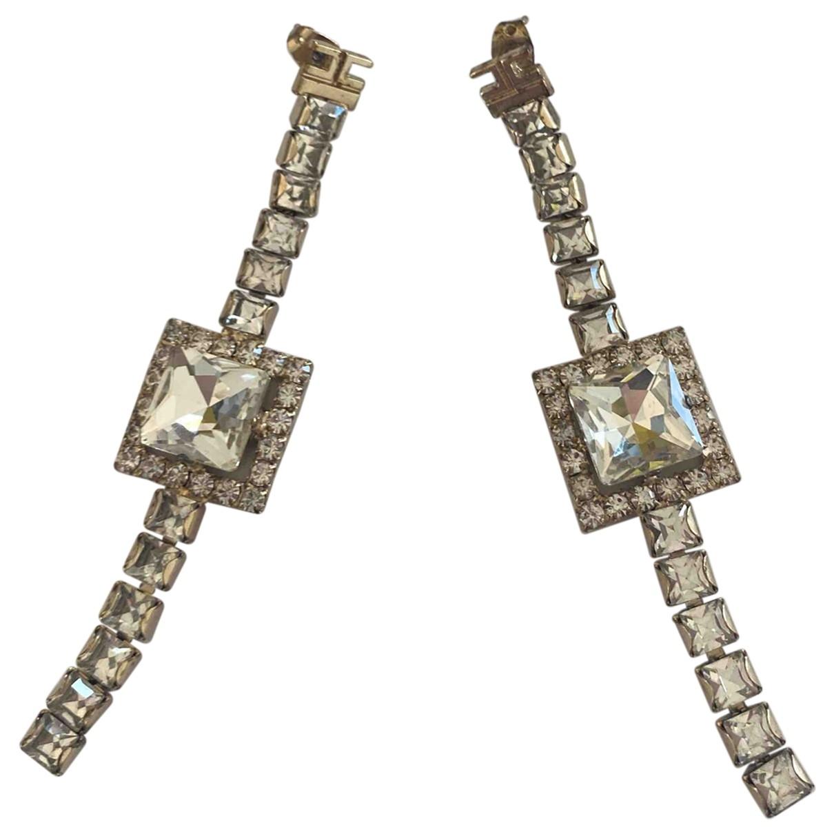 Elisabetta Franchi \N White Metal Earrings for Women \N