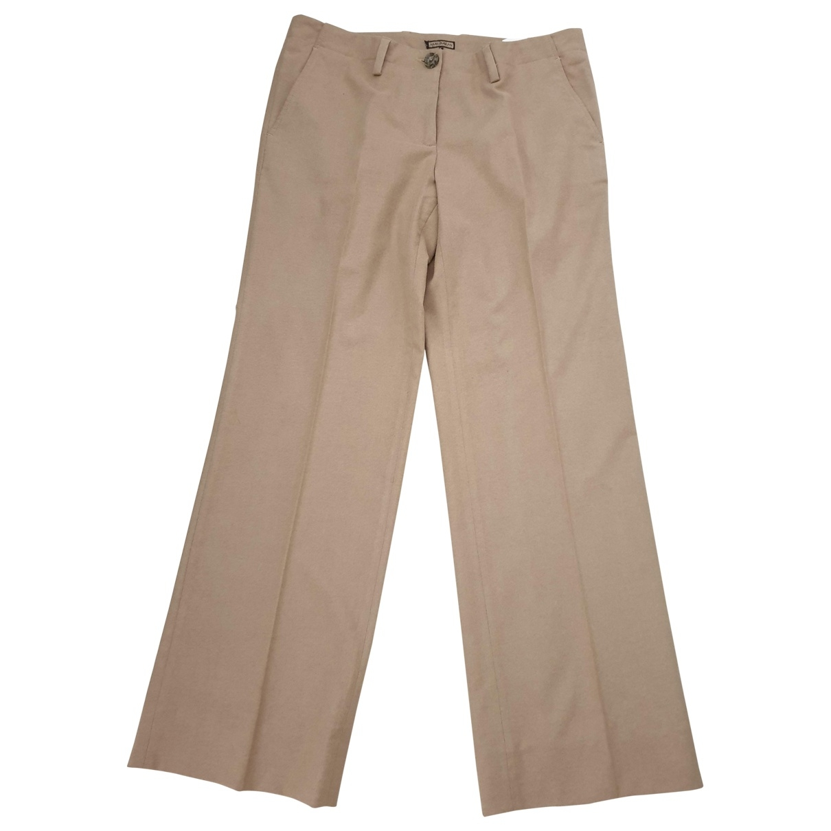 Maliparmi \N Beige Trousers for Women 44 IT