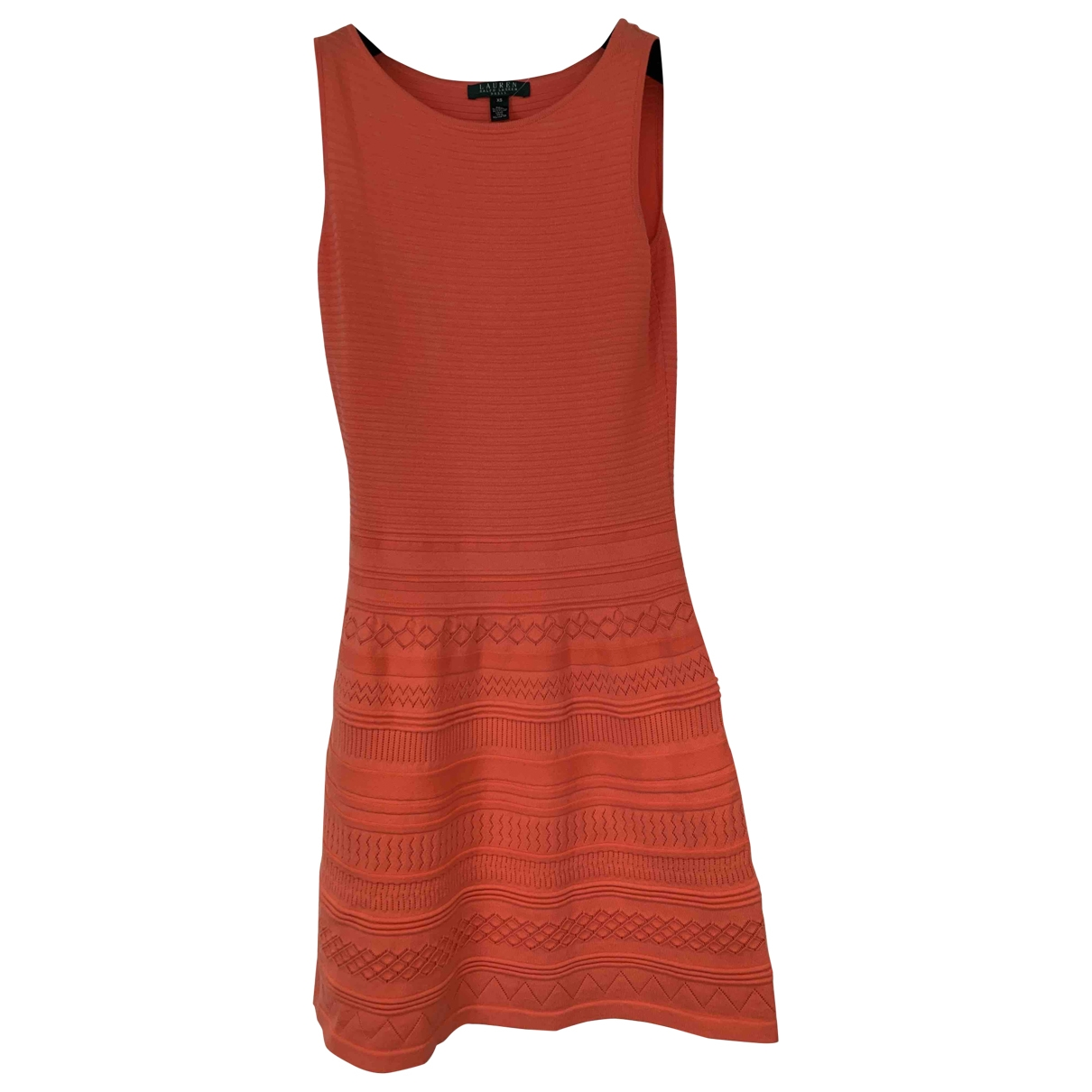 Lauren Ralph Lauren \N Orange Cotton dress for Women XS International