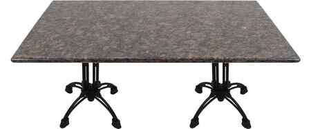 G215 30X72-CA18-27H 30x72 Tan Brown Granite Tabletop with 20