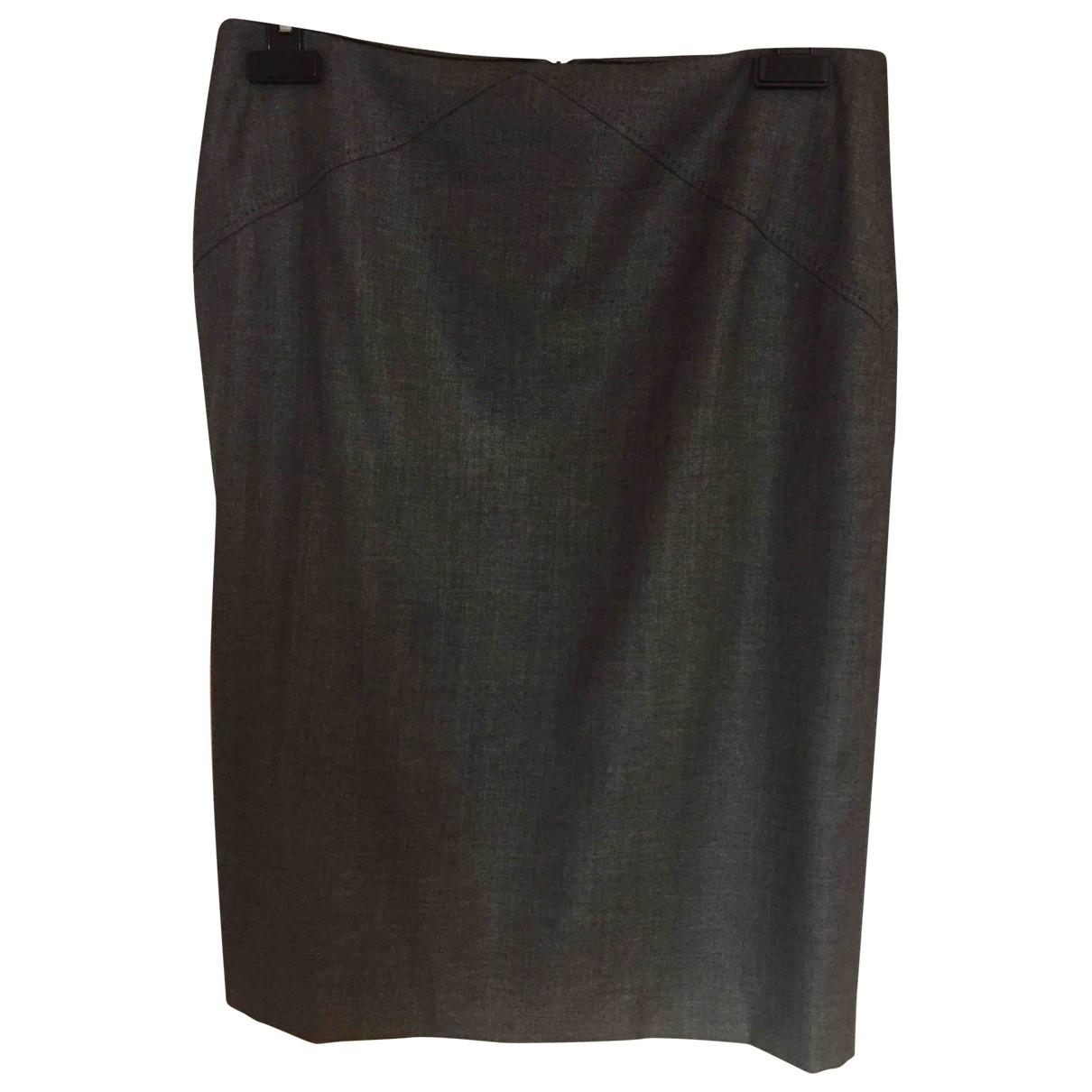 Boss \N Grey Wool skirt for Women 40 FR