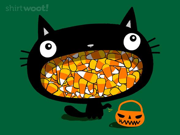 Candy Corn Cat T Shirt