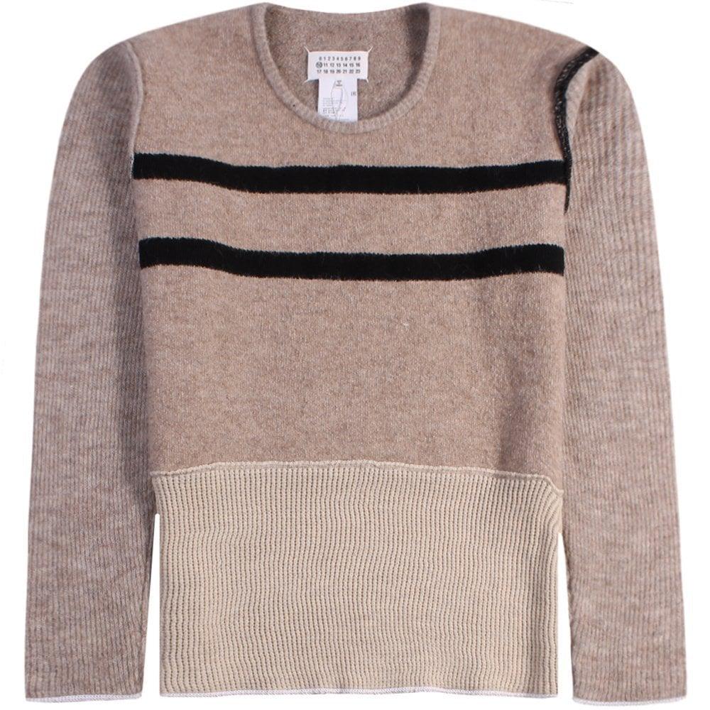 Maison Margiela Knitted Jumper Beige Colour: BEIGE, Size: LARGE
