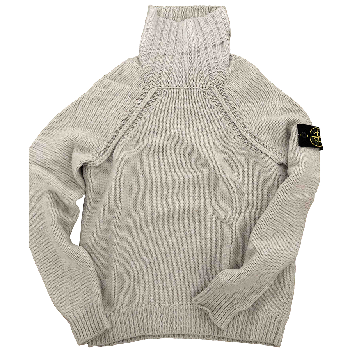 Stone Island \N Pullover.Westen.Sweatshirts  in  Ecru Wolle