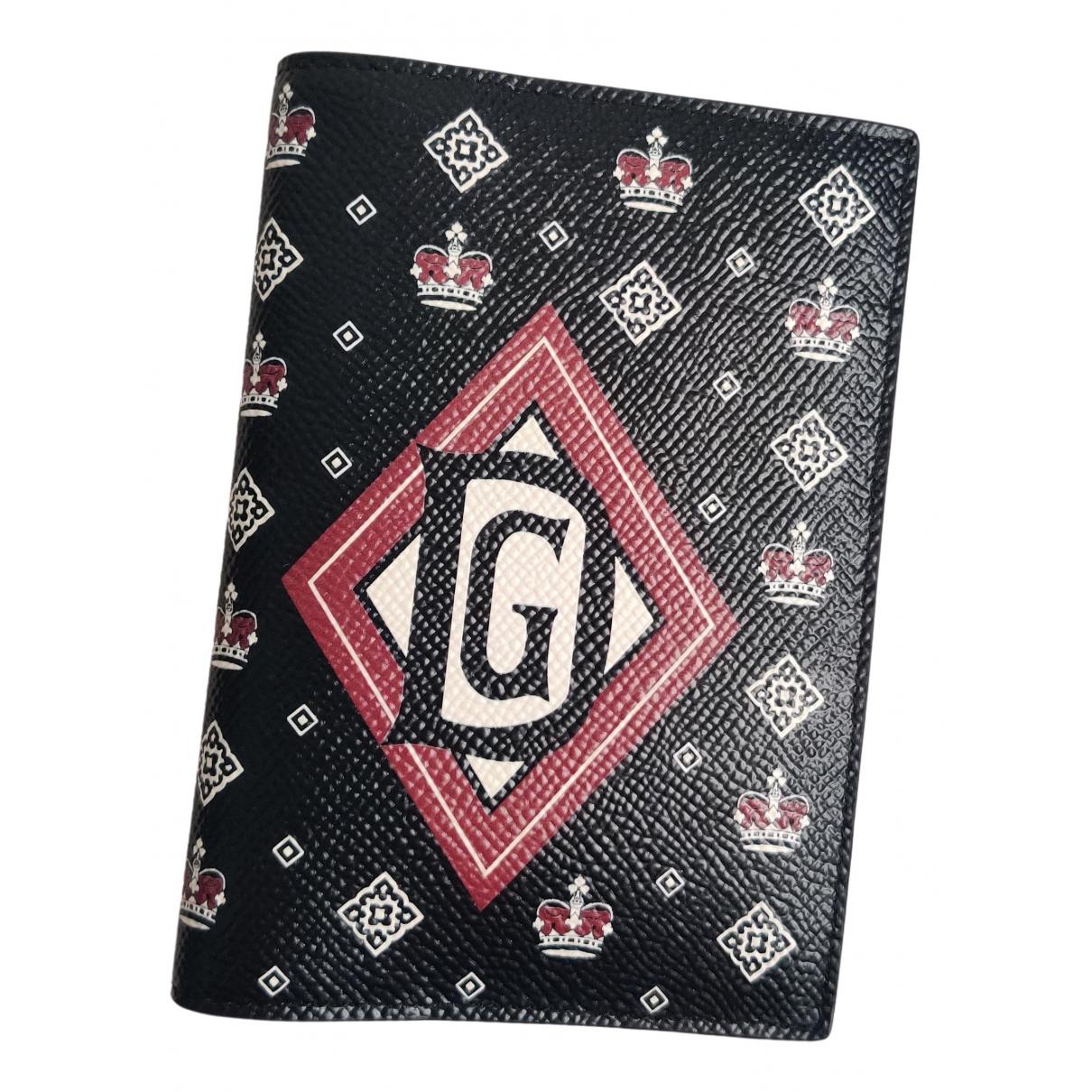 Dolce & Gabbana \N Kleinlederwaren in  Schwarz Leder