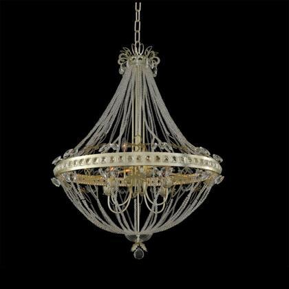 021251-035-FR001 Orleans 6-Light + LED Chandelier Style  120V in Champagne Silver Leaf
