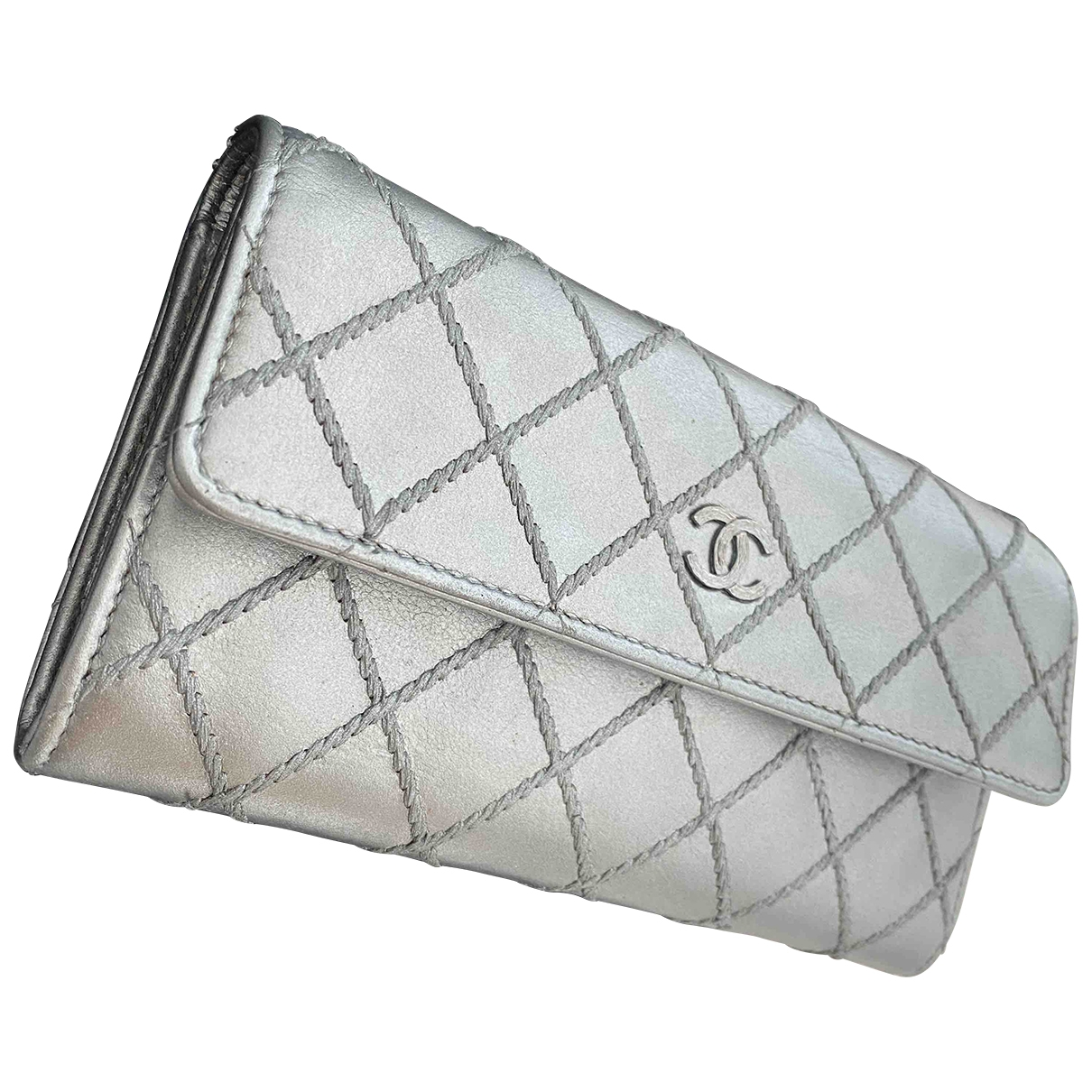 Chanel \N Silver Leather wallet for Women \N
