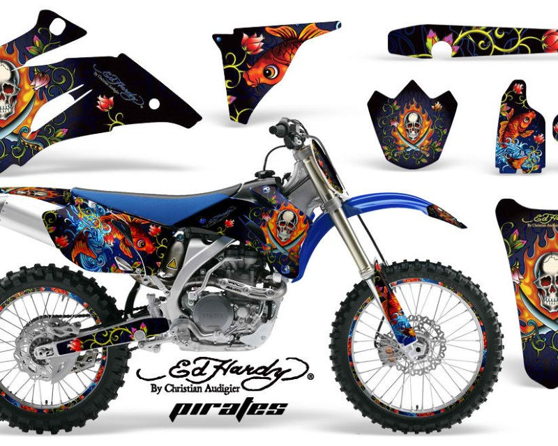 AMR Racing Graphics MX-NP-YAM-YZ250F-YZ450F-06-09-EDHP U Kit Decal Wrap + # Plates For Yamaha YZ250F YZ450F 2006-2009áEDHP BLUE