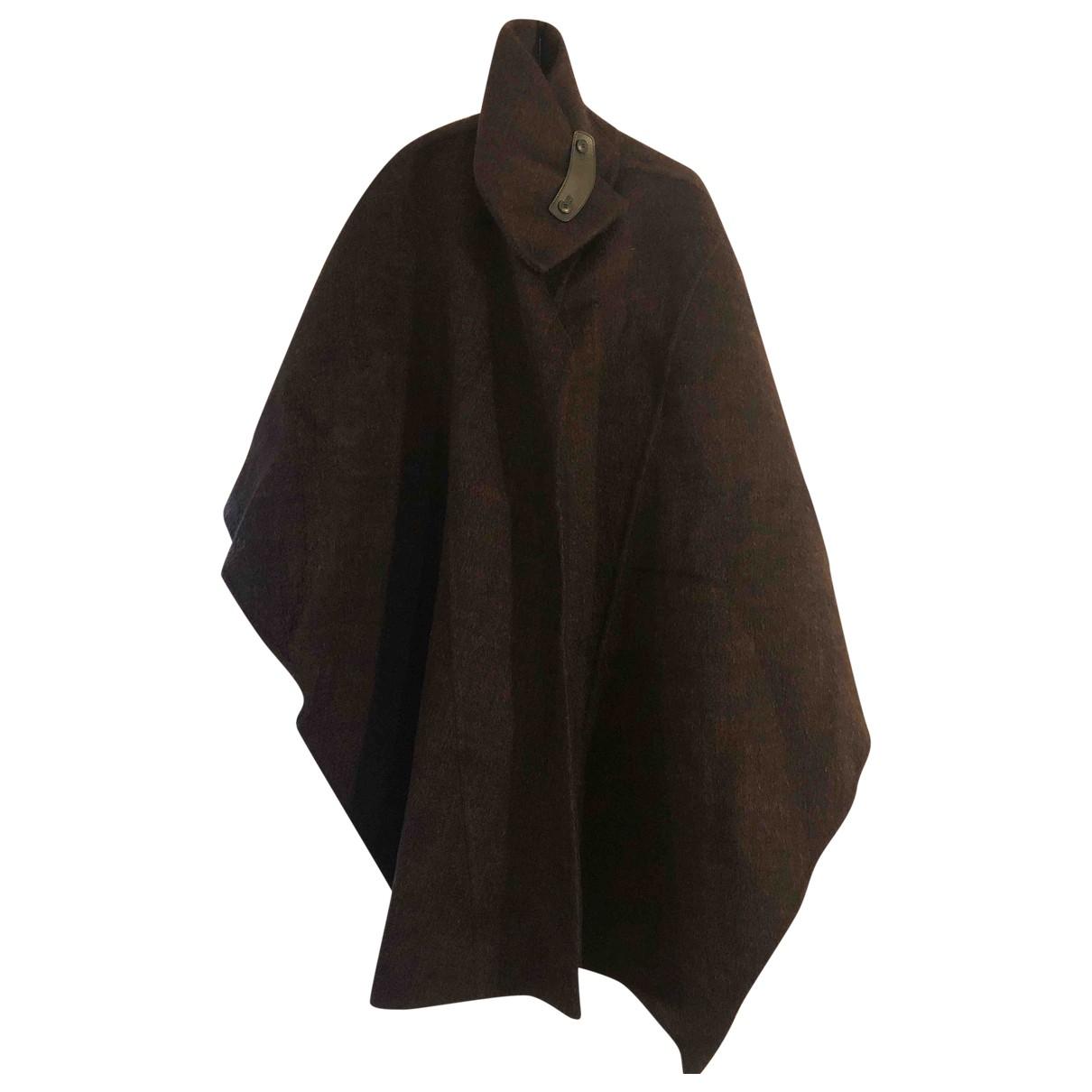 Salvatore Ferragamo - Manteau   pour femme en laine - marron