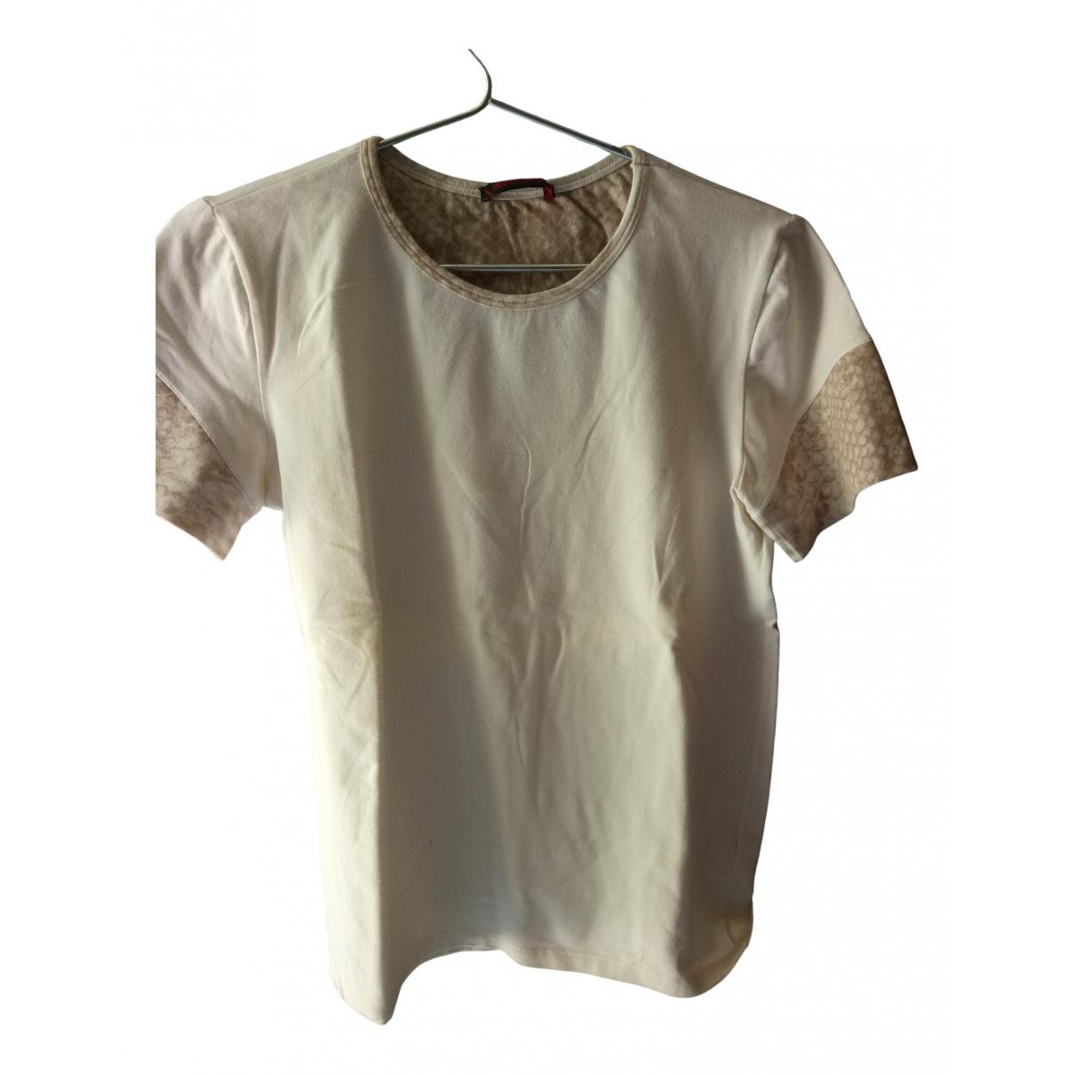 Roberto Cavalli - Top   pour femme en coton - beige