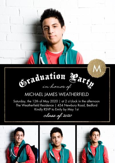2020 Graduation Invitations 5x7 Cards, Premium Cardstock 120lb, Card & Stationery -2020 Grad Party Diploma by Tumbalina