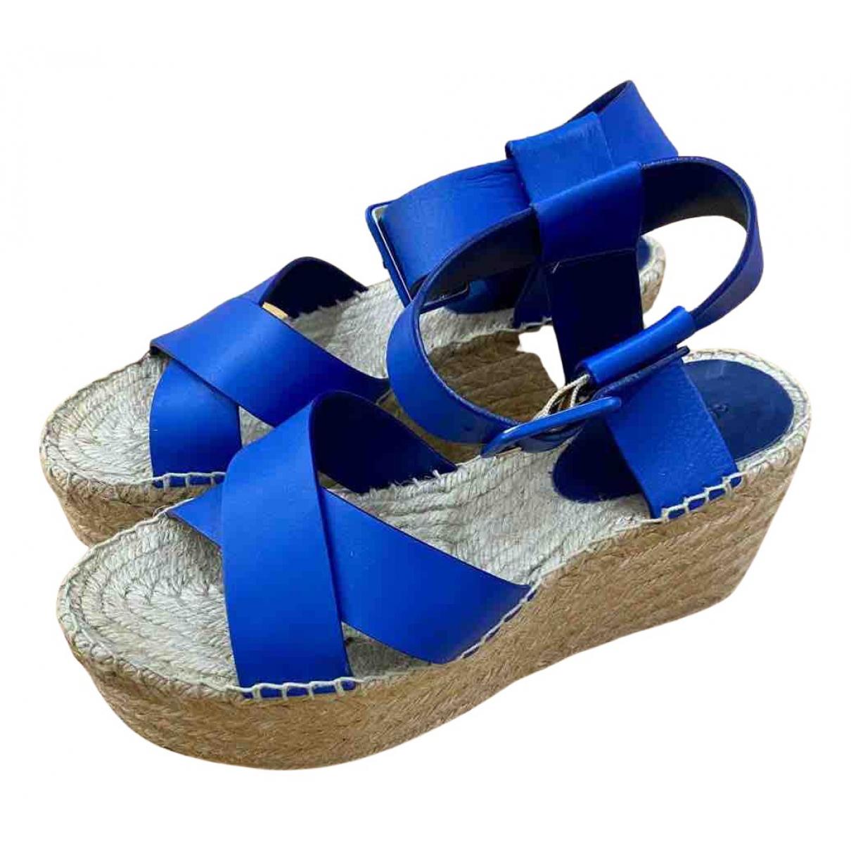 Celine - Espadrilles   pour femme en cuir - bleu
