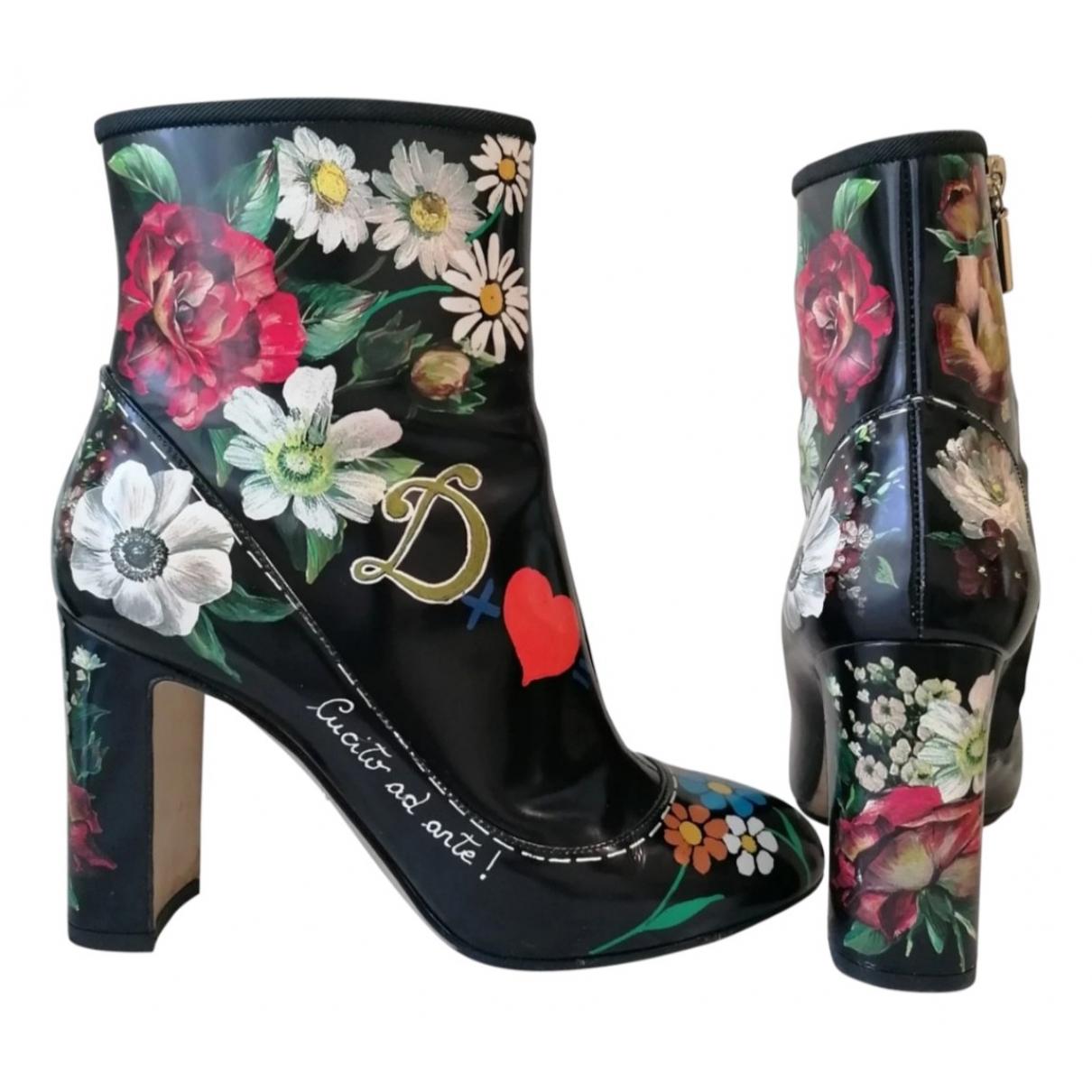 Dolce & Gabbana - Boots   pour femme en cuir - multicolore