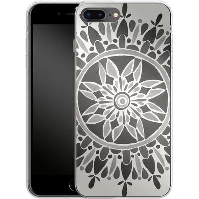 Apple iPhone 8 Plus Silikon Handyhuelle - Mandala Black von Cat Coquillette