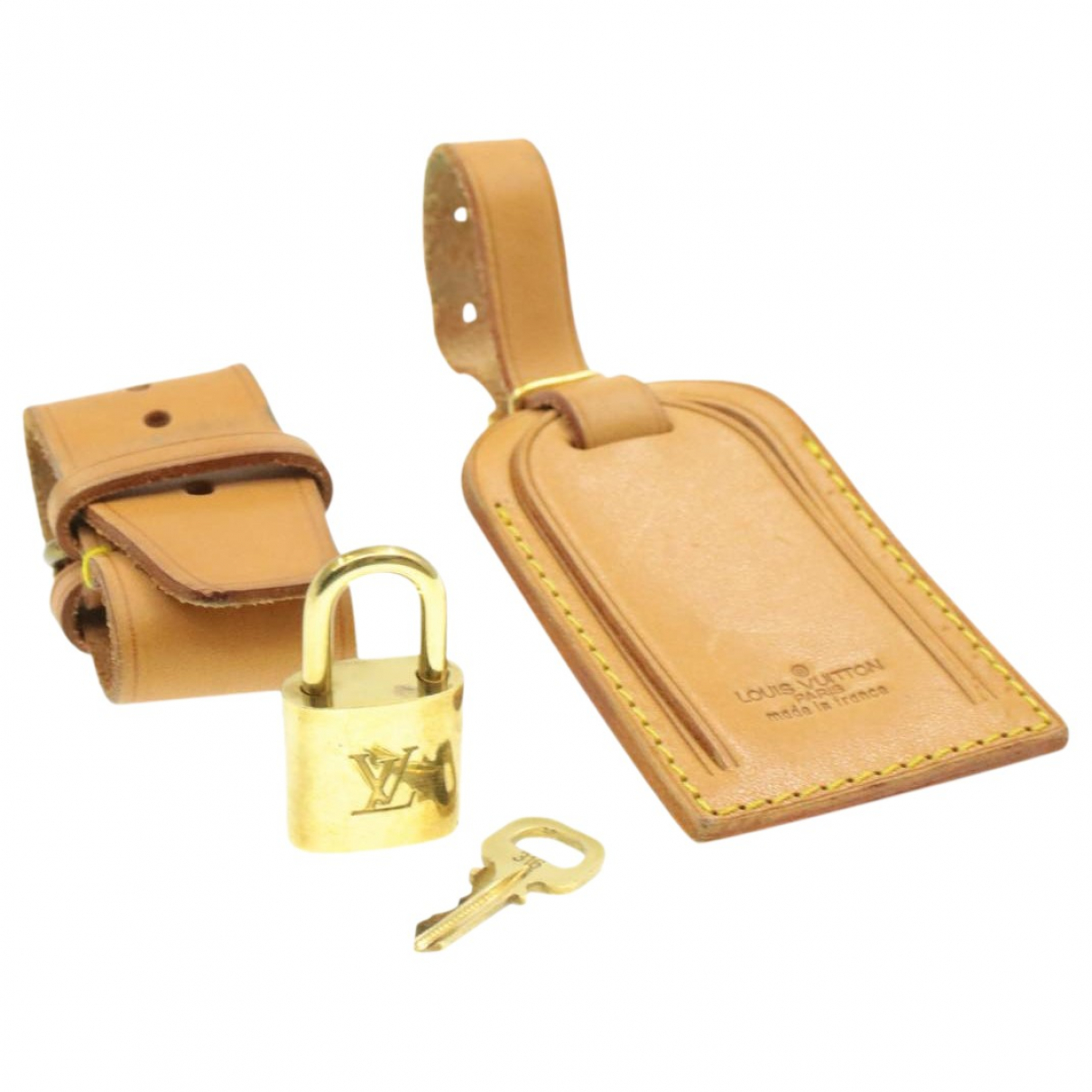 Louis Vuitton - Bijoux de sac   pour femme en cuir - beige